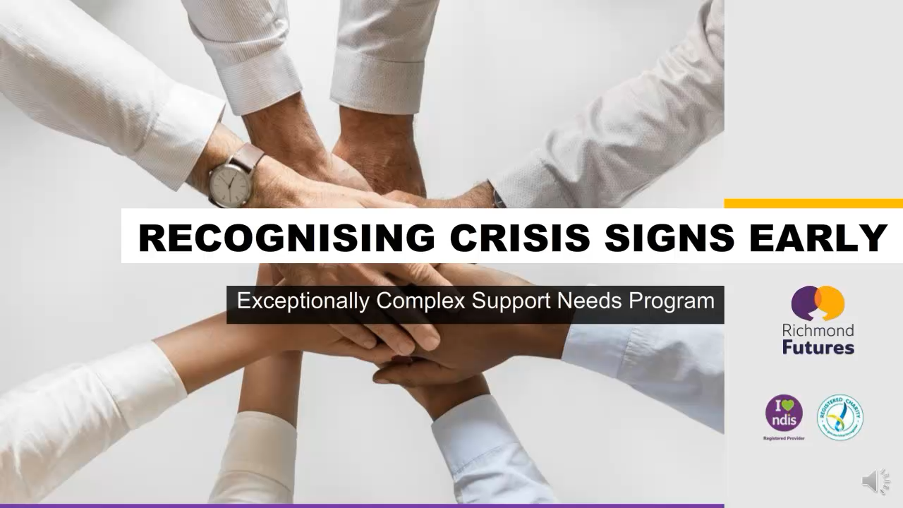 recognising crisis signs early